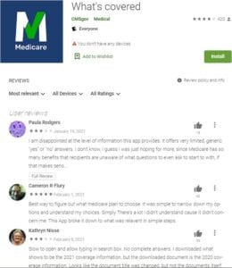 check out the reviews for the Medicare What's Covered app